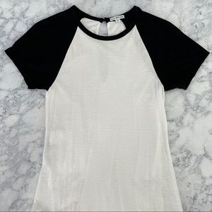 JAMES PERSE LA Black White Baseball Dress